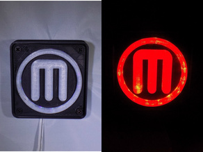 Makerbot M Logo LED Nightlight/Lamp
