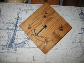Aiguille Ancre pendule - marée graphe