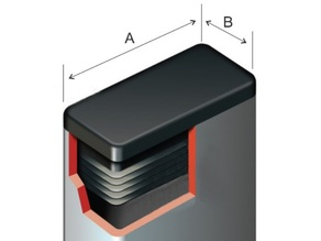 Tapon perfil Rectangular / Plugs for rectangular tubbing