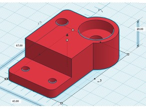 Hictop Prusa i3 (3DP11) Improved Z-Axis Brackets with Bearing