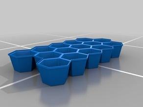 Icecube container hexagonal shape