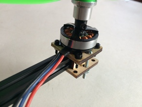 Quadcopter Motor Mounts for 1cm Beams