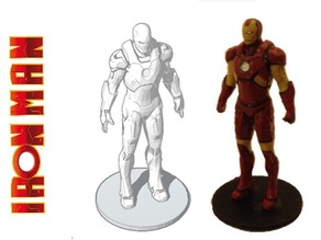 Iron Man Statue (With Support)