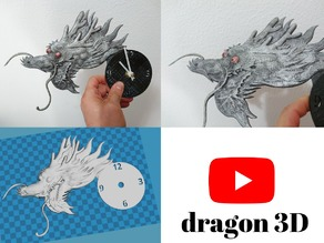 Reloj Dragon en relieve