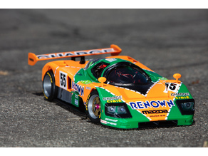 1991 Mazda 787B 3d Printed RC Car