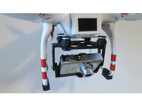 DJI Phantom 1, Camera mount for Canon Ixus 60