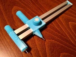 Compass circle cutter