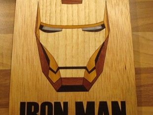 Iron Man from Laser Cut Wood Veneer