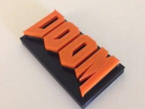 DOOM gaming logo design