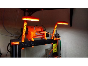Prusa MK2(S)/MK2.5/MK3 LED frame holder MMU2 compatible