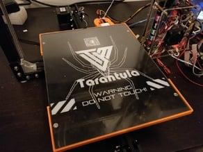 Tarantula glass mount for large bed