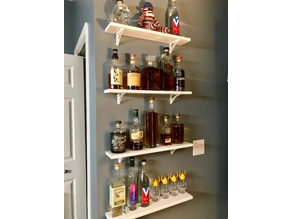 Whisky Bottle Display Self Bracket