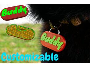 Customizable Dog Name Tag