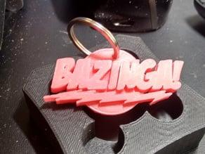 """""""BAZINGA!"""" Big Bang Theory Keychain"""