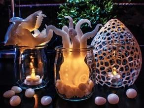 Squid in a Jar and Gorilla Skull