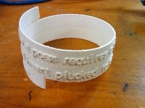 Spiral Poem Bracelet Mark 2