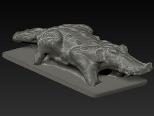Mayan Crocodile Rattle