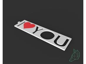 "portachiavi ""I Love You"" _ ""I Love You"" keychain"