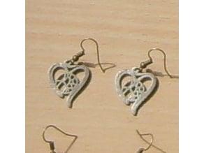 Voronoi Heart Earring