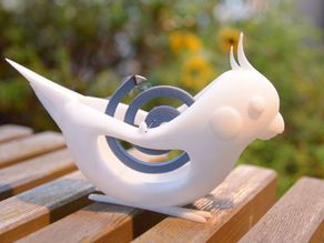 INKO KAYARI (Mosquito coil holder in the shape of a cockatiel)