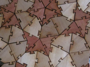 Interlocking Kite and Dart Penrose Tiles