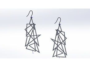 Polygon necklace and earrings