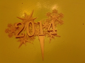 New year decorations 2014