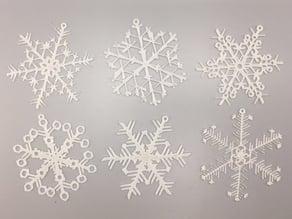 Organic Snowflake Ornaments