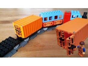 Containers for duplo train / modular mini truck