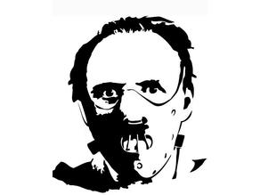 Hannibal Lecter stencil