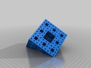 Diagonally-Sliced 3-Level Menger Sponge