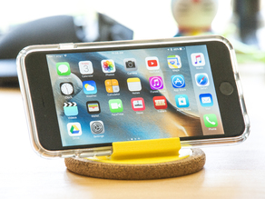 iPhone Cork Coaster Stand