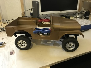 Jeep CJ 5 Body / Karosserie 1/10 for SCX10 Chassis