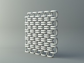 Net from rounded cube parts