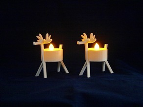 LED Reindeer Tea Light Holder