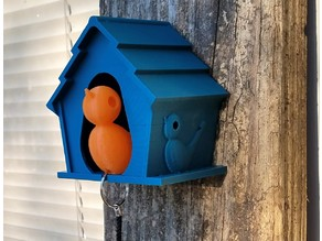 Birdhouse Keychain Holder