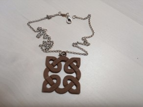 Knot variations ( 1 of X ) ... pendant and earring
