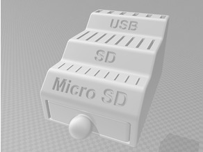 SD / MICRO SD / USB HOLDER WITH DRAWER