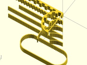 parametric timing belt for openscad