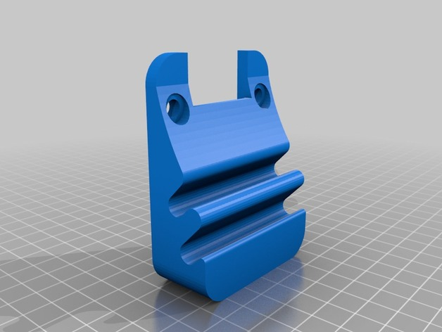 Wall Mount Pencil And Caliper Holder By Danjw Thingiverse