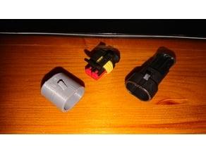 2pin waterproof car connector plug