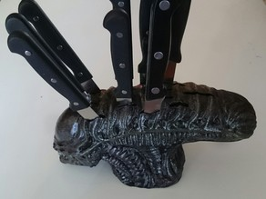 Alien Head Knife Block