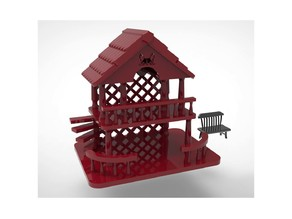 Dog Dollhouse Toy House Miniature