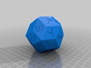 Alphabetized (DK) Triacontahedron