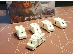 Dice Hospital Ambulance - Protruding numbers