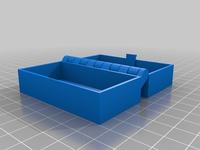 Customized Hinged Box With Latch 100, 35, 67, 15, 1.5, Somewhat Parametric and Printable In One Piece