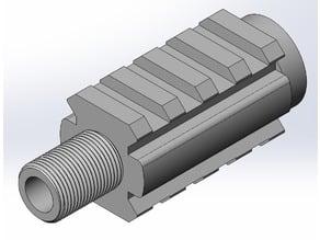 KJW MKII 14mmCCW thread adapter w/ rails