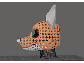 Fursuit- or puppet-head base - version 44 - Toon canine