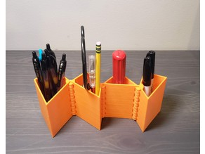 triangle square hinged dissection pencil holder