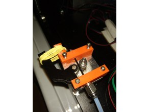 Rubber band bowden extruder